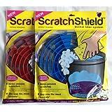 Scratch Shield 2protectores antiarañazos para cubo, para lavar el coche, diseño de rejilla, con filtro para la arenilla, color azul y rojo