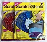 2x rayures Shield Lavage de Voiture Seau Filtre Grain Protecteurs (Bleu et Rouge)