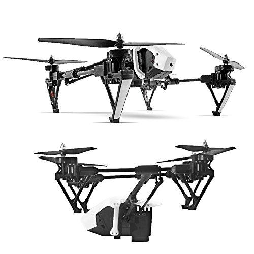 Wltoys Q333A FPV Drohne mit Kamera und Bildschirm 5.8G Live Übertragung Monitor 720P Cam Headless Modus für Erfahrener, mit 4G Speicherkarte, Garantie, 2 Akkus, Deutsche Anleitung, Weiß - 3