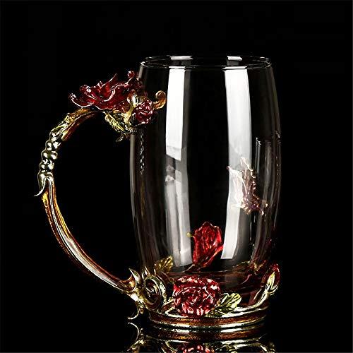 Set di tazze e piattini da tè tazza di caffè di vetro tazze d'epoca set regalo di natale di compleanno di san valentino per lei set tazza e piattino da tè china ( colore : natural , dimensione : s )