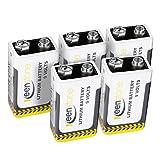 5 Stück Keenstone 9V Block Batterie Lithium 6LR61...