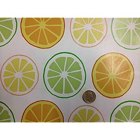 Lemon Lime facile pulire Serie stampe Patio Tovaglia cerata in
