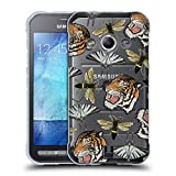 Head Case Designs Tiger, Schmetterling, Und Bienen Patch Styles Soft Gel Hülle für Samsung Galaxy Xcover 3
