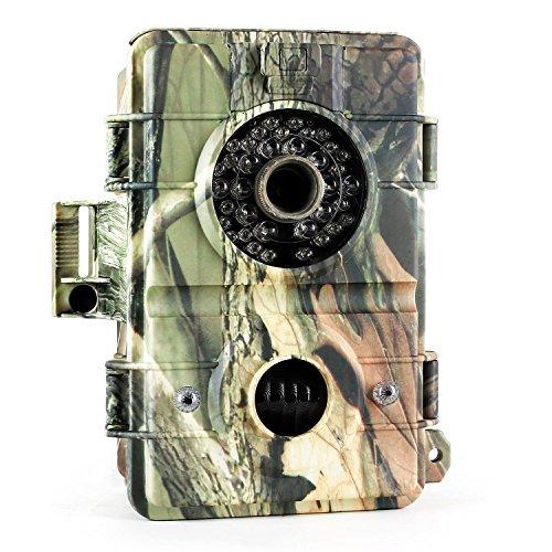DURAMAXX Grizzly 3.0 Caméra de surveillance de gibier pour la chasse ou l'observation de la faune (caméra embarquée HD 720p 8MP, slot SD, TV-out, capteur de mouvement)