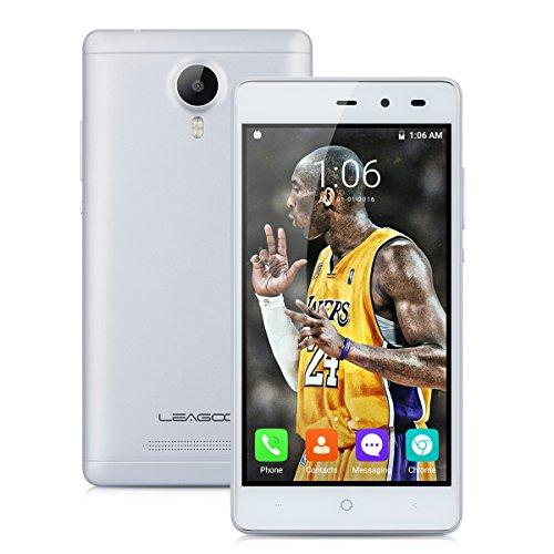 Leagoo Z5 3G Smartphone - 5.0 '' Schermo Android 6.0 Quad Core 1.3GHz Cellulare Dual SIM Dual Standby Ram 1GB Rom 8GB 5,0 MP Gesti intelligenti, Argento