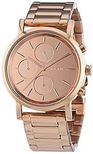 DKNY - NY8862 - Montre Femme - Quartz Chronographe - Chronomètre - Bracelet Acier Inoxydable Plaqué Or Rose