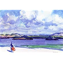 The Sands Of Iona - By Francis Campbell Bolleau (F.C.B.) Cadell - impressions sur toile 32x22 pouces - sans cadre