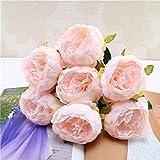 TAOtTAO 1 Blumenstrauß Vintage Künstliche Pfingstrose Seidenblumen Bouquet für Dekoration (B)