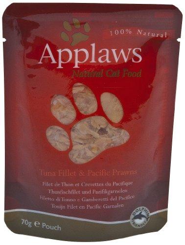 Applaws | Thunfischfilet & Pazifikgarnelen Frischebeutel | 12 x 70 g