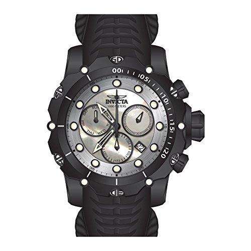 Invicta Venom Herren-Armbanduhr Armband Silikon Schwarz Schweizer Quarz 26246 (Invicta Venom Männer Uhren Für)