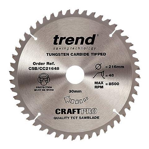 Trend CSB/CC21648 216 mm x 30 x 48 Teeth CraftPro Crosscut Saw Blade