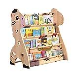 Childrens Bookshelf Cartoon Solid Wood Floor Shelf Primary School Simple Picture Book Shelf Magazine Shelf