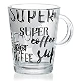 Ritzenhoff & Breker Super Kaffeebecher, Kaffee Becher, Tasse, Geschirr, Glas, Schwarz, 380 ml, 193671