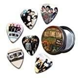 All Time Low Set of 6 Loose Guitar Médiators in Tin ( Collection E )