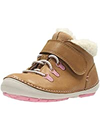 Clarks Little Aklark Girl's First Shoes 2.5 Tan Suede