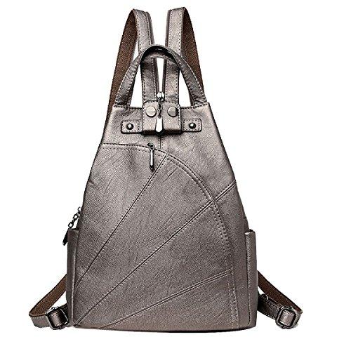 Einfach Frauen Rucksack Freizeit Multifunktions- Daypacks Multicolor Copper