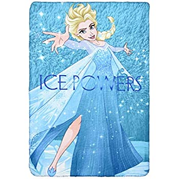 FRO2206 COPERTA Plaid Frozen Elsa Anna Disney in Pail CM.100x150