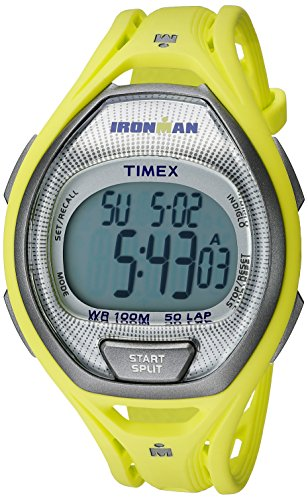Timex Ironman Sleek 50 Full-Size Watch Lime/Silver-Tone