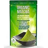 Té verde matcha en polvo - Potente antioxidante japonés orgánico grado culinario - 113 gramos (4 onzas)