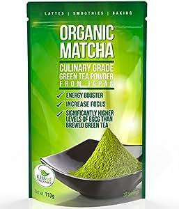 Matcha Tee Bio – Matcha Tee Set -Pulver – Matcha Pulver Grüner Tee – Matcha Besen – Matcha Latte – Japanischer Biotee Antioxidantien kulinarische Auslese – 113 Gramm