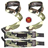 Lifting Straps By Rip Toned (PAIR) - Normal or Small Wrists - Bonus Ebook - Lifetime Warranty -...