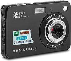 "Aberg Best 21 Mega Pixels 2.7"" LCD Rechargeable HD Digital Camera - Digital video camera - Students cameras - Indoor Outdoor for Adult /Seniors / Kids (Black) (BLACK)"
