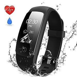 Fitness Tracker ANEKEN Orologio Fitness Activity Tracker Cardio Cardiofrequenzimetro da Polso Pedometro Impermeabile IP67 con Monitoraggio del Sonno Notifiche Chiamate e SMS per iOS e Android