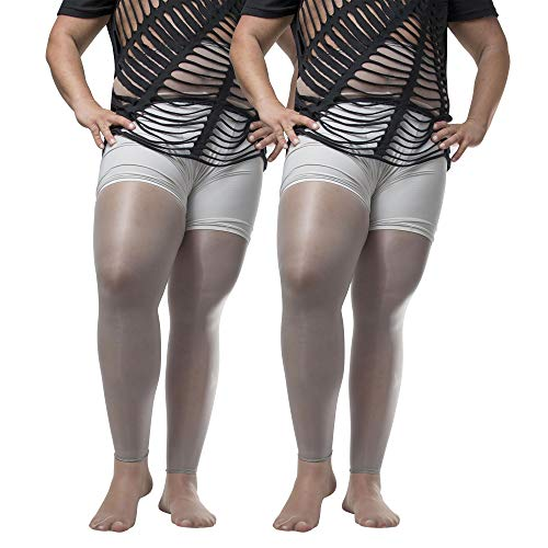 ElsaYX Herren Shiny Footless Strumpfhosen mit offener Hülle
