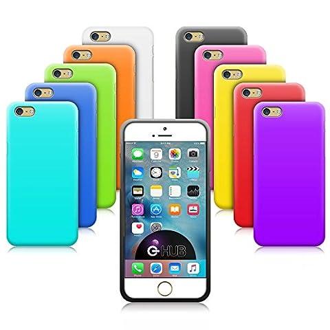 G-HUB® - 10-in-1 Silicone Cases für APPLE iPHONE 6 (2014) & iPHONE 6S (2015) SmartPhone Mobile Handy Shutzhüllen - 10 VERSCHIEDENE FARBEN der Schutzhülle in diesem Handytasche Zubehörpaket