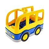 1 x Lego Duplo Auto Bus gelb blau 4x8 für Set Schulbus 10528 15314c01 16597c01pb01
