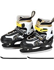Physionics - Patines de hockey sobre hielo de color amarillo y talla regulable de 30/33