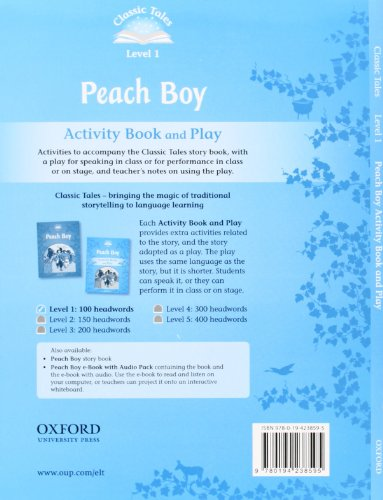 Classic Tales Second Edition: Classic Tales Level 1. Peach Boy: Activity Book 2nd Edition