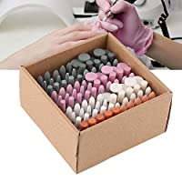 Yuyte 100Pcs Professional Nail Drill Bits Set Manicure Pedicure Nail Polishing Accessory