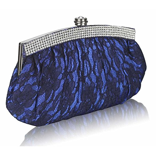 L And S Handbags, Poschette giorno donna Royal Blue