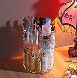 Addfun®360 Grad Drehung Transparent Kosmetik Aufbewahrungskiste Revolvierend Veranstalter Kosmetik Speicherhalter Hautpflege Acryl Lagerregal