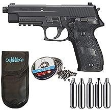 Outletdelocio. Pistola perdigon SSP226B Sig Sauer P226 4,5mm + Funda Portabombonas + Balines
