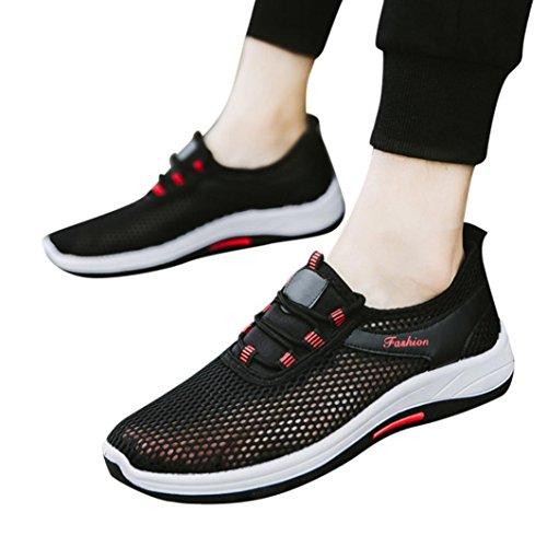 Elecenty scarpa da sneakers respirabile mesh basse sportive outdoor unisex donna uomo casual sneakers sport running scarpe con cinturini traspiranti