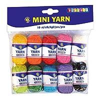 Playbox PBX2471062 2471062 Mini Yarn, Set of 10 Pieces, Multi Color
