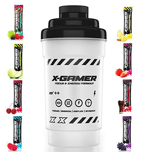 X-Gamer X-Tubz - Gaming Booster Pulver - Shake It Yourself (X-Mixer + 8 X-Shotz)