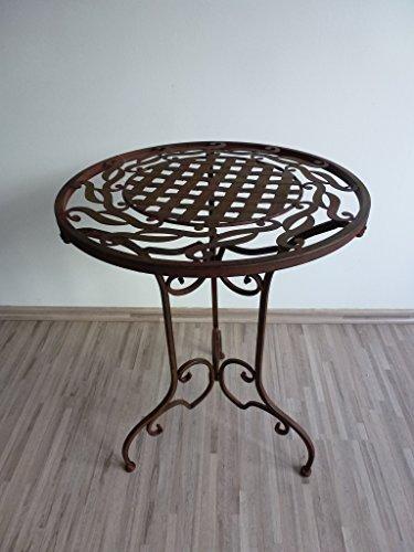 Ziegler Metalltisch Beistelltisch Blumenhocker Klapptisch Tisch Metall Eisen rund WK071291 -