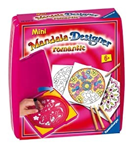 Ravensburger 29947  Mini Mandala Designer ® - Set Creativo de diseño Motivos romáticos