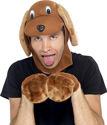 ut M�tze mit Handschuhen zum Tierkost�m (Karneval Kostüm Ideen Für Hunde)