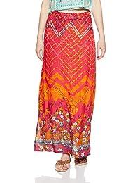 Global Desi Women's A-Line Maxi Skirt