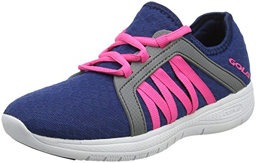 Gola G-Fit, Scarpe Sportive Indoor Donna Blu (Navy/pink/cool Grey)