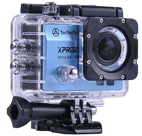 [Nouveau] TecTecTec XPRO2 Caméra Sport 4K Ultra HD Wifi - Camera étanche 16 Mp - Bleue