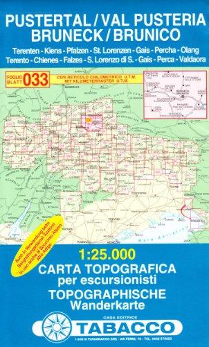 Brunico e dintorni 1:25.000 (Carte topografiche per escursionisti) por TABACCO