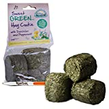 6 Packs of Nature's Own Sweet Green Hay Cookies with Dandelion & Peppermint Pet Food Dust Extracted Animal Feed & Tigerbox Antibacterial Pen