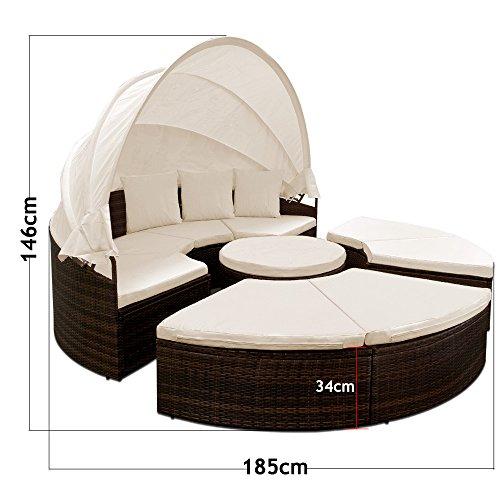 deuba-poly-rattan-sonneninsel-o185cm-braun-schwarz-faltbares-sonnenschutzdach-wpc-teleskoptisch-7cm-sitzauflagen-3-kissen-gartenliege-liegeinsel-sonnenliege-lounge-liege-gartenmoebel-set-7