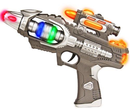 Spielzeug Space Pistole Licht-Effekt Sound-Effekt Astronaut Silber Kunststoff (Star Wars Spielzeug Waffen)