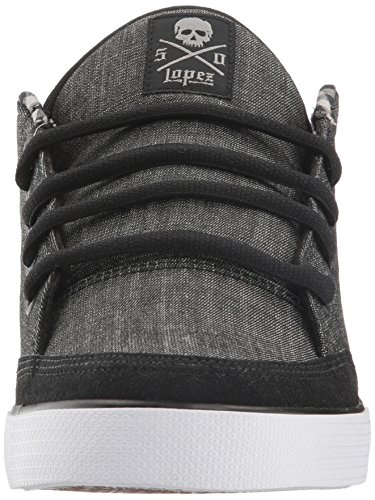C1rca Lopez 50 Textile Skateschuh Black Denim/Plaid